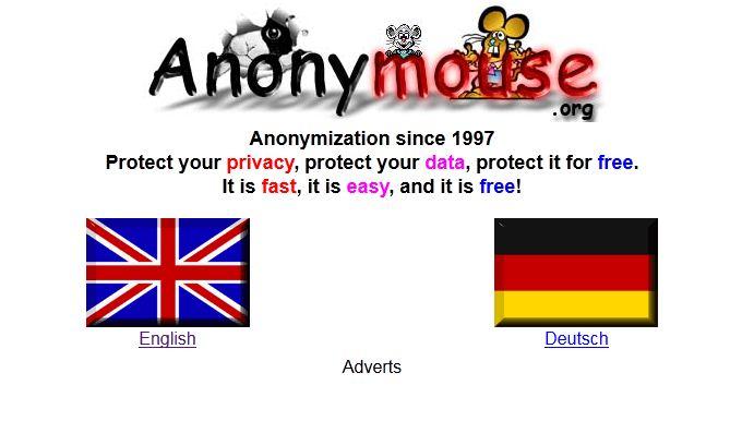 Isikan alamat web yang akan kita buka menggunakan Anonymouse pada form ...