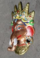 Mascara de Metal. DIOS Ganesh o Ganesa.