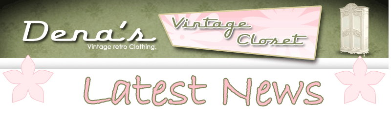 Latest News and Listings from DenasVintageCloset.com