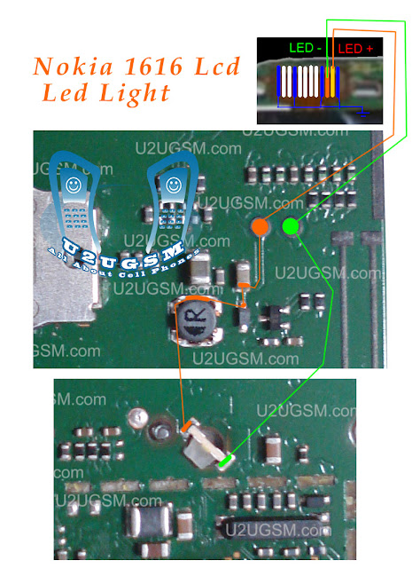 Cell Firmware  Nokia 1800 Lcd Led Keypad Lights Solution