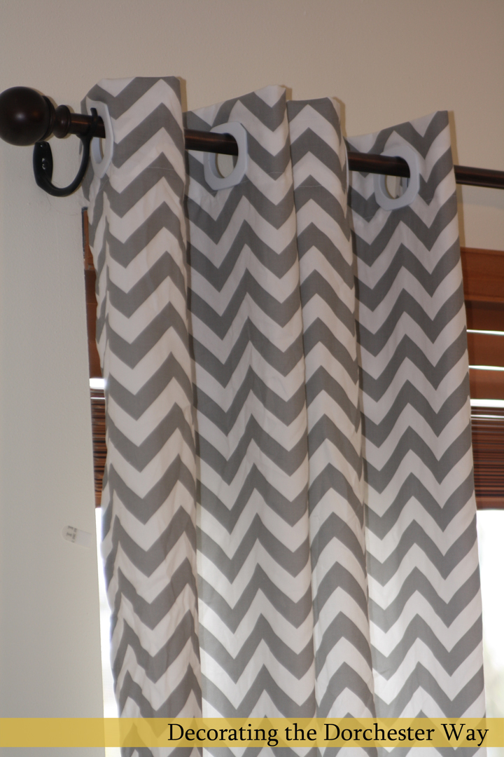 Decorating the Dorchester Way: Chevron Curtains