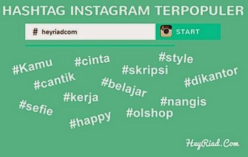 Hashtag Instagram Terpopuler