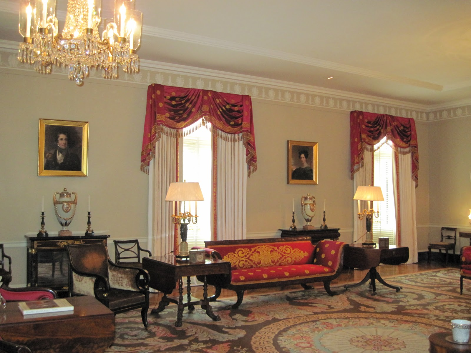This is the most magnificent room. The draperies, rug, furnitureso title=