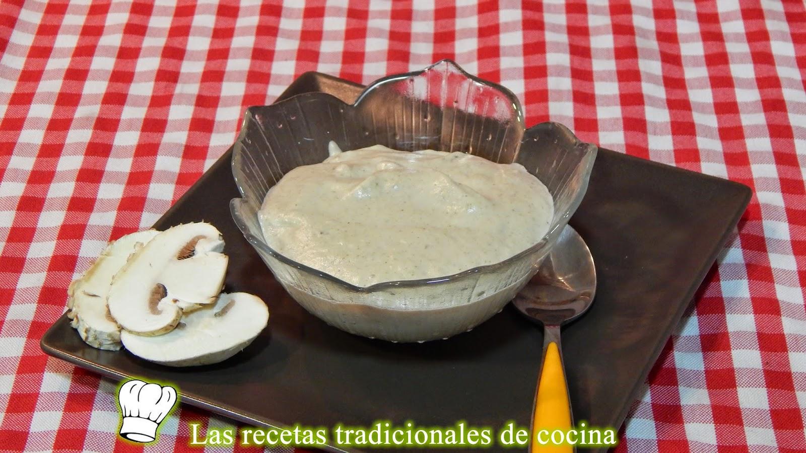 salsa de champiñones y setas