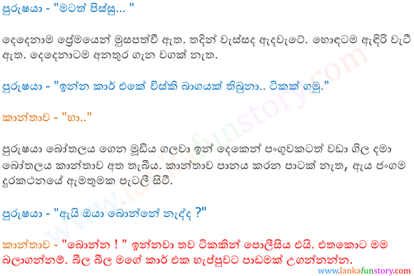 Sinhala Fun Stories-Cunning Woman-Part Two