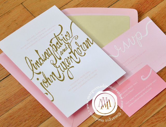 Margotmadison handwritten fonts on wedding invitations