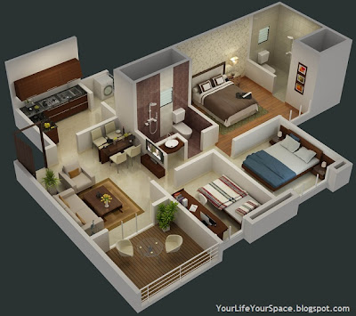 Your life your space gini bellina dhanori lohegaon road for 2 bhk flat decoration