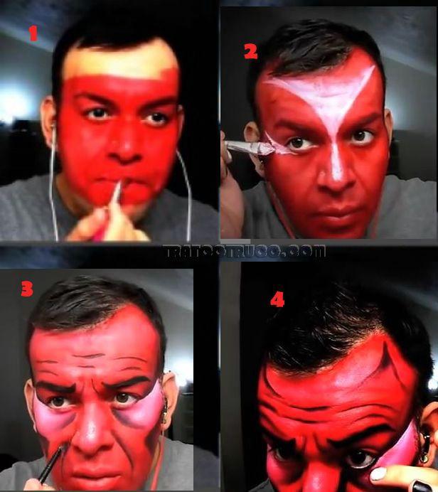 un video con un maquillaje de diablo - Maquillaje Demonio