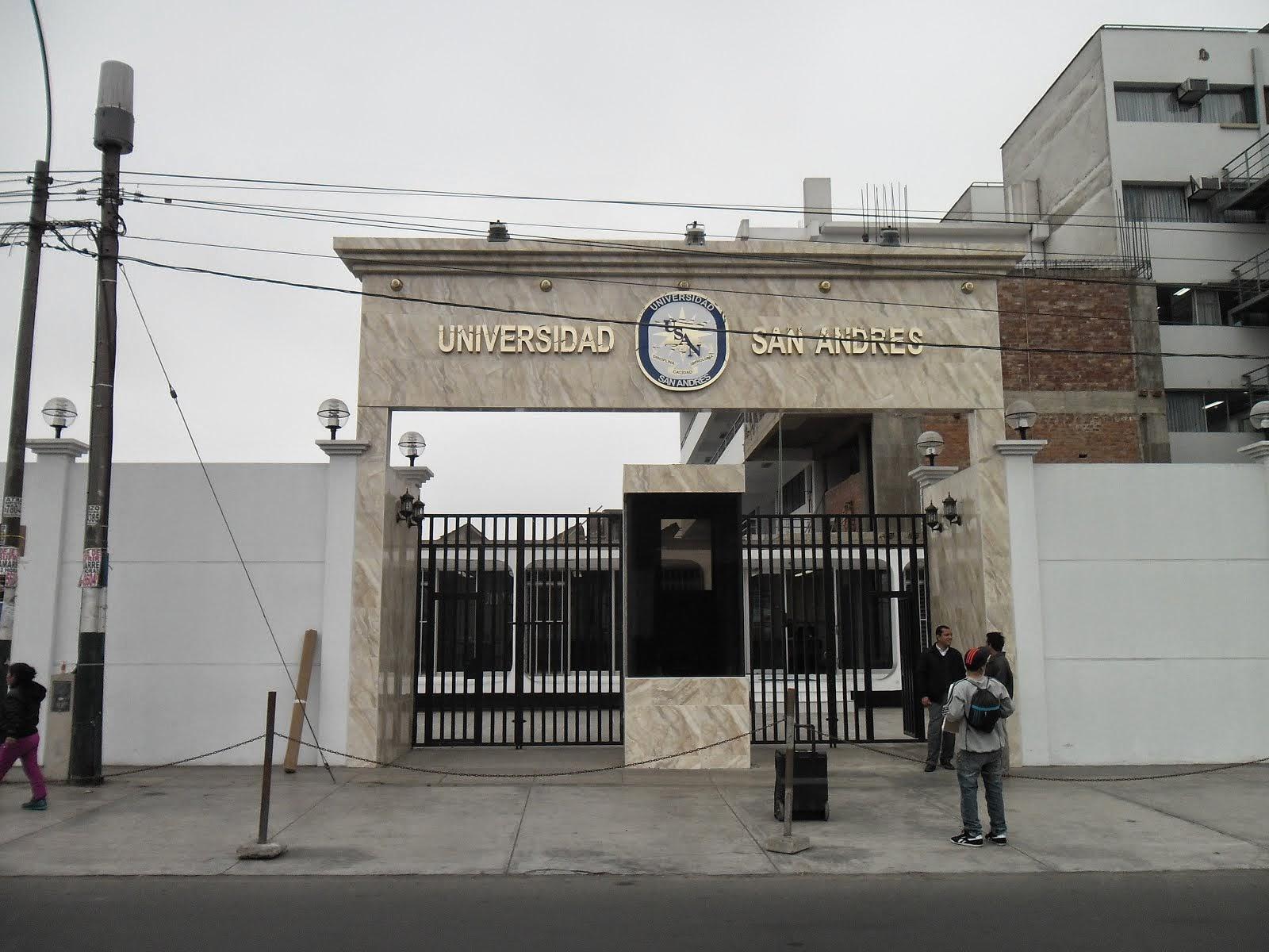 LETRERO ALUMINIO ANODIZADO - UNIVERSIDAD SAN ANDRES