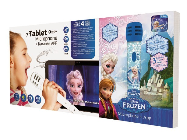 JUGUETES - DISNEY Frozen  Pack con Tablet + Micrófono + Karaoke APP | Ingo Devices  Producto Oficial | Ingo Devices