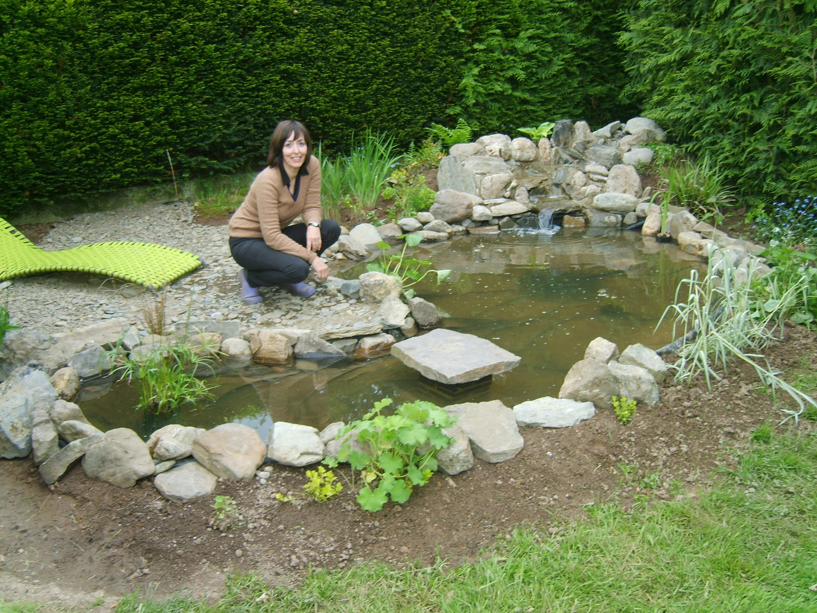 La passion d 39 anne marie ma mare sans canard fin - Faire une mare dans son jardin ...