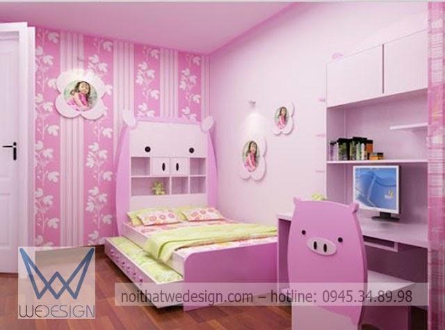Phòng ngủ heo con cho bé