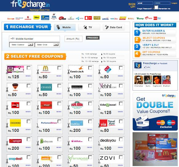 Coupon/Offer Details: Recharge your Airtel prepaid with Freecharge and get a chance to pick free recharge coupons for free movie tickets, a free cup of coffee or a free pizza from McDonalds, Pizza Hut, PVR cinemas, Barista Lavazza, Domino's Pizza & a lot more. Hurry up!