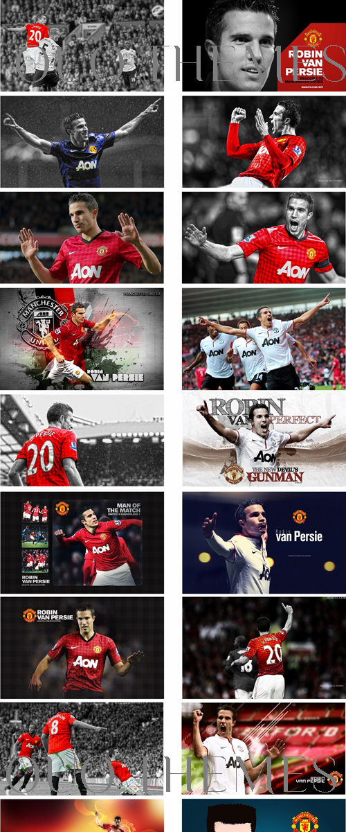Robin Van Persie Manchester United Theme For Windows 7 And 8