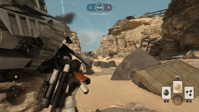 Star Wars Battlefront Battle of Jakku Goazan badlands AT-AT