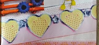 Barradinho em crochê com coração