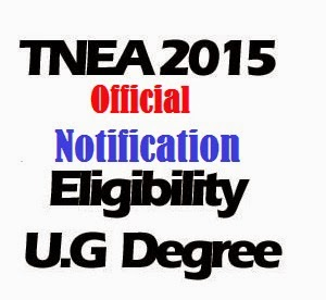 TNEA 2015 Official Notification - Anna University