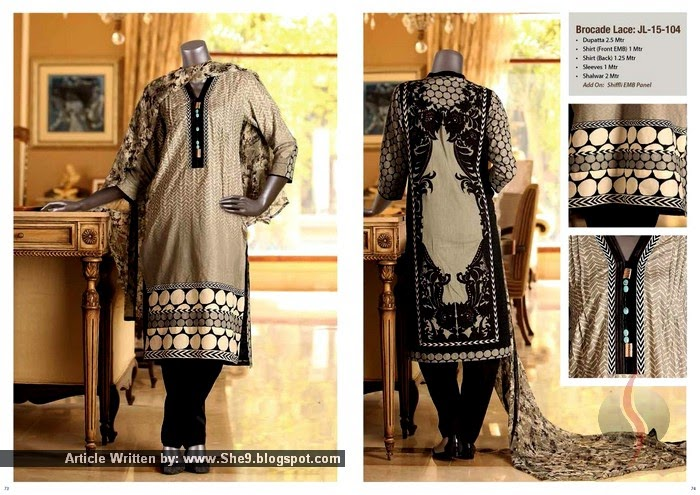 Junaid Jamshed Embroidered Lawn Collection 2015