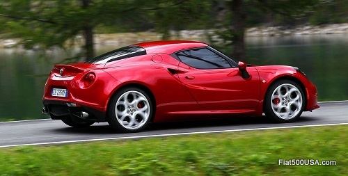 Alfa Romeo 4C on the road
