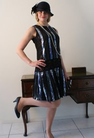 1920s inspired flapper dress