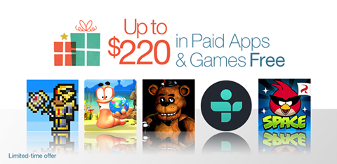Amazon Appstore giving away $220 worth of 40 Paid Apps and Games for Free