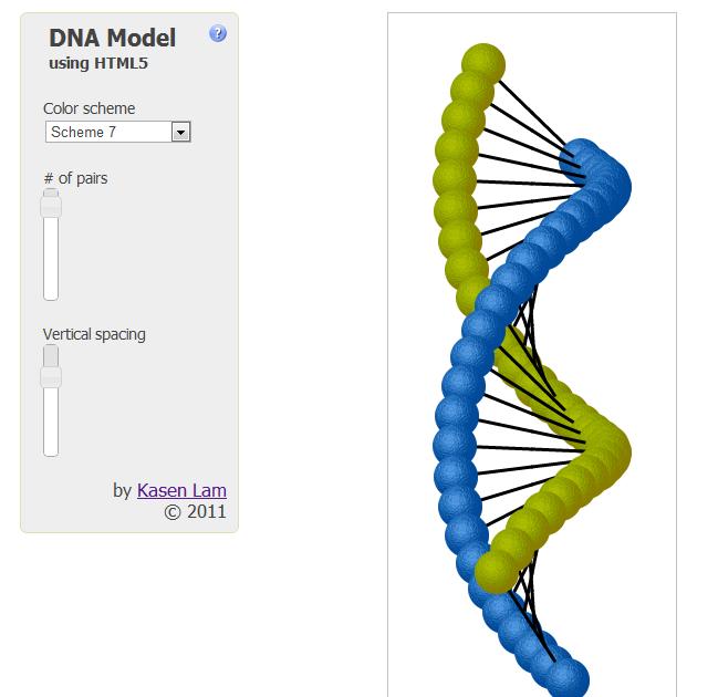 Kasen's Blog: DNA Model using HTML5