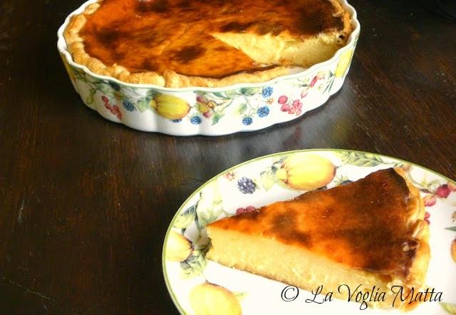 ricetta torta alla crema