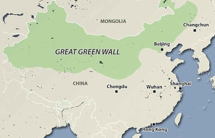 China Is Combating Desertification By Planting A Great Green Wall of Trees