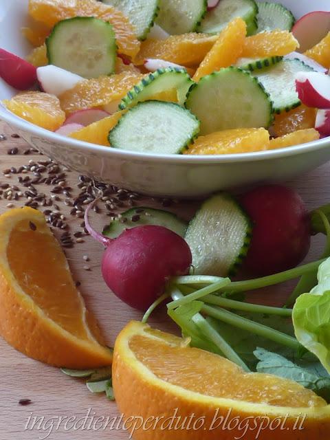 Insalata di frutta e verdure-ingrediente perduto