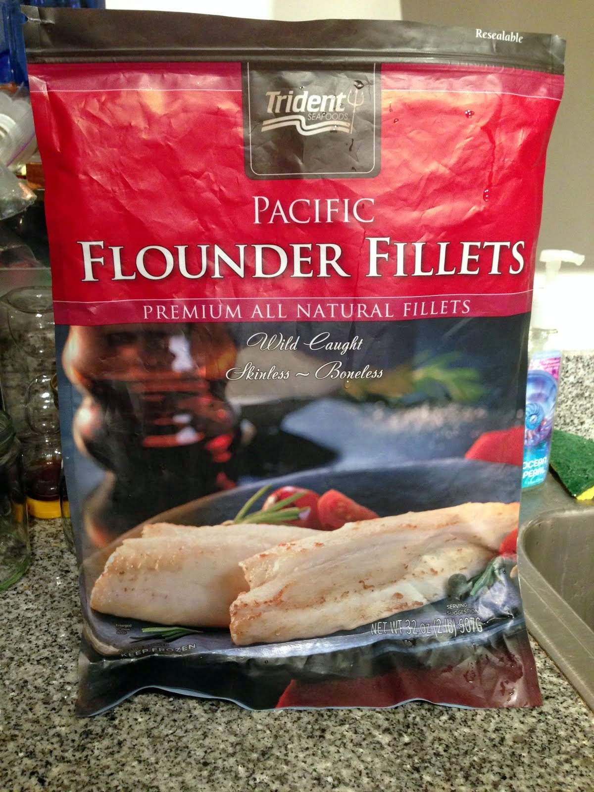 Panda bytes pacific flounder for Costco frozen fish