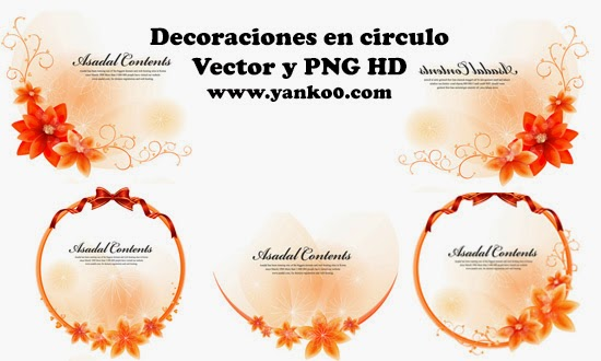 vectores, gratis, decoracion, circulos, frames, yanko0, graficos, png, hd