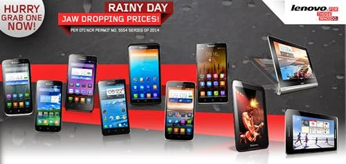 Lenovo Mobile Rainy Day Sale, Get Discounts Plus Freebies Until August 31, 2014