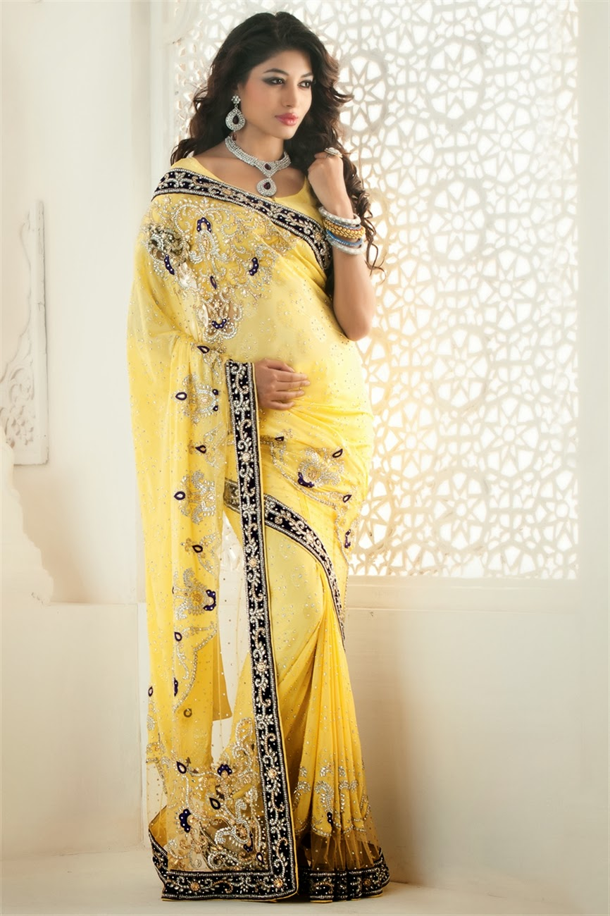 Designer party wear sarees collection