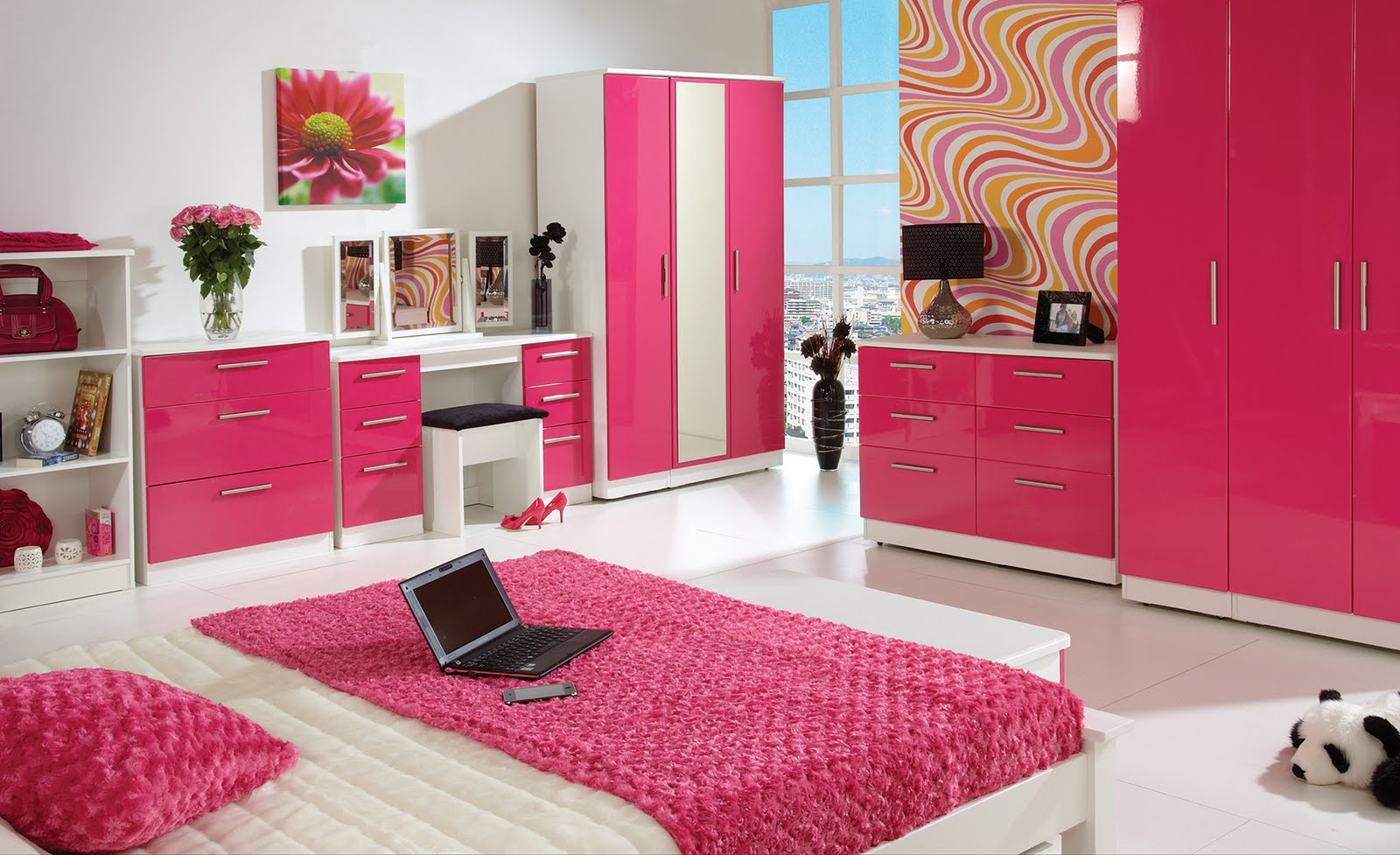 Patricinhas perfeitaas quarto de paty - Pink and white teenage room ...