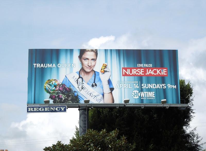 Nurse Jackie Trauma Queen season 5 billboard