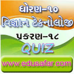 Std 10 science-technology chapter-18 Quiz