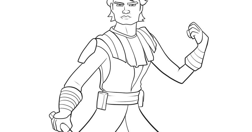 Star Wars Clone Wars Coloring Pages Anakin