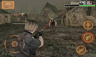 Screenshots of the Resident Evil 4 BioHazard Mobile Edition for Android tablet, phone.