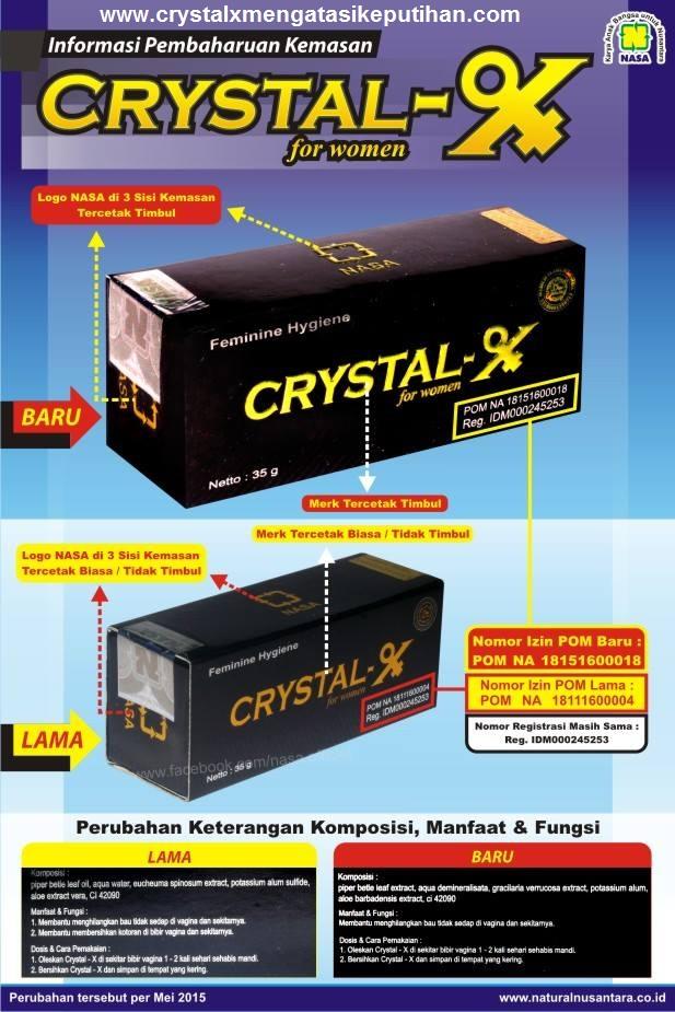 Crystal X Asli Kemasan Baru