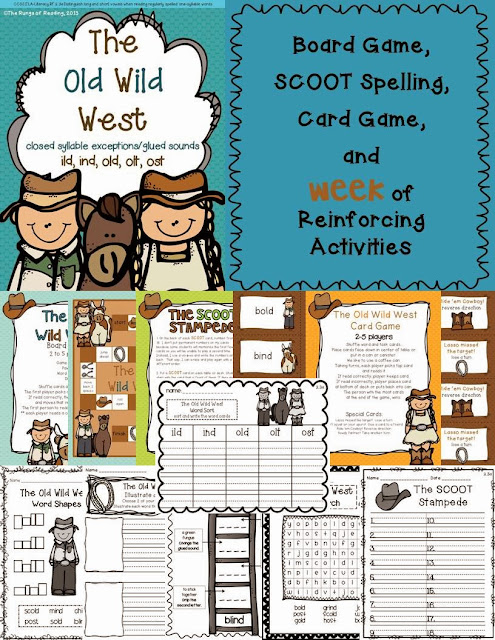 http://www.teacherspayteachers.com/Product/The-Old-Wild-West-closed-syllable-exceptions-ild-ind-old-olt-ost-888061