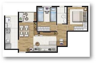 apto 2 e 3 dormitorios carrao