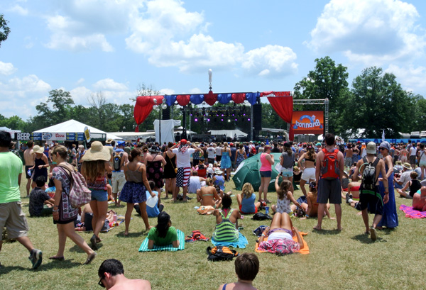 Bonnaroo music festival in Tennessee