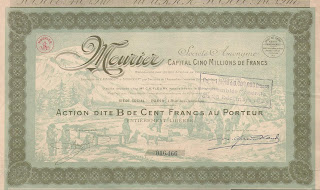 a share in the French Mourier company with northern traders and snow dogs