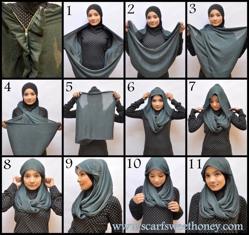 Tutorial Cara mengenakan Jilbab Modern