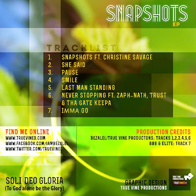 Bezalel - Snapshots EP - back cover