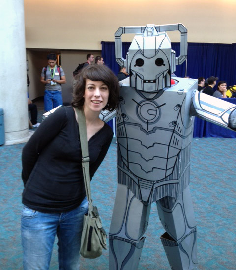 how to make a cyberman costume out of cardboard