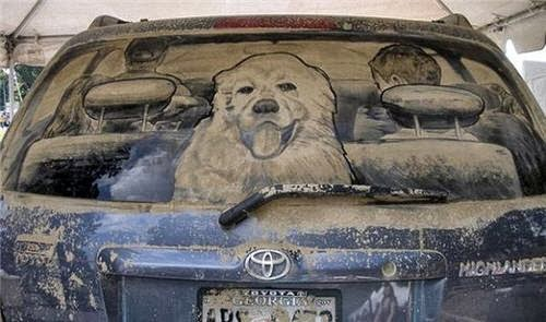 On the Road: Rear Window - Scott Wade's Dirty Car Art