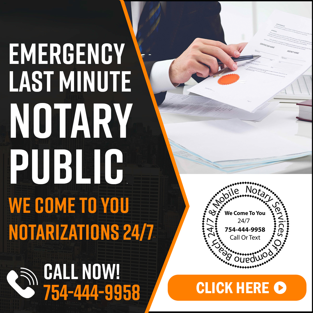 Emergency Notary Public Services Last Minute