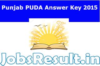 Punjab PUDA Answer Key 2015