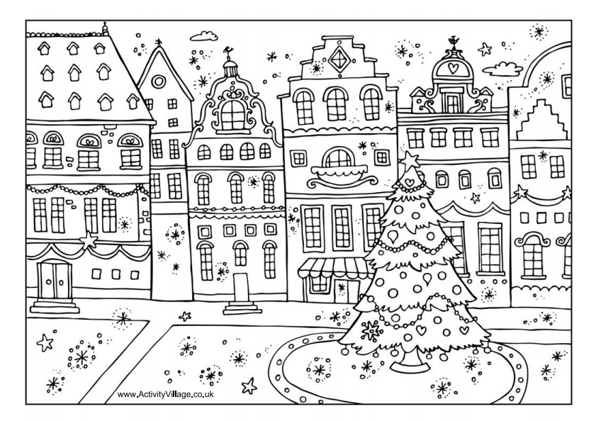 activity village winter coloring pages - photo#3